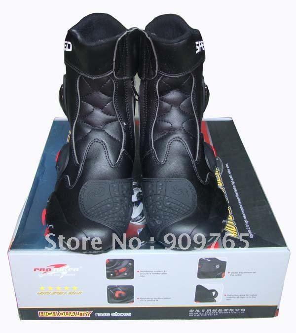 Noir imperméable tout-terrain outwear bottes chaussures garde pour Honda moto moto vélo protecteur course Suzuki Harley Ducati