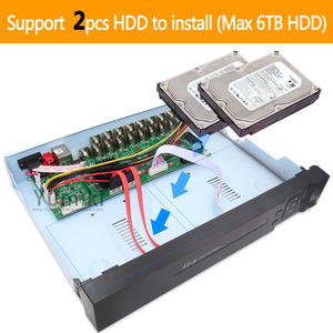 Image 5 - 6 em 1 h.265 + 16ch ahd vídeo híbrido gravador para 5mp/4mp/3mp/1080 p/720 p câmera xmeye onvif p2p cctv dvr ahd dvr suporte usb wifi