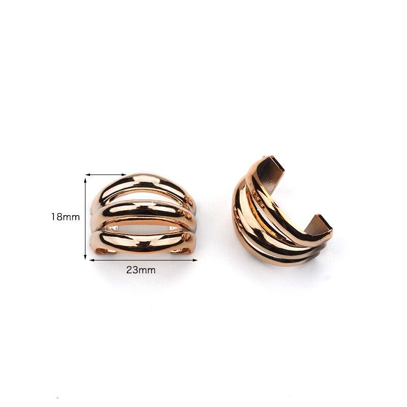 20 шт./лот 10×22 мм тесьма Пряжка Ленты Золото бант с отверстиями для крепления ручной работы DIY аксессуары для волос