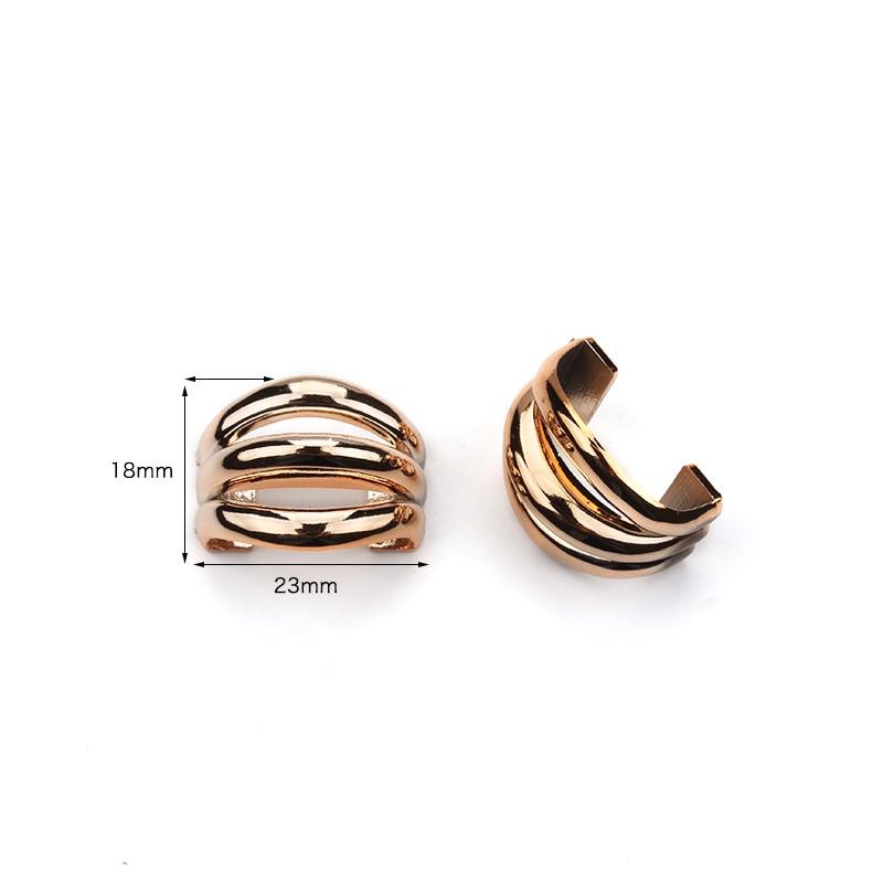 20pcs/lot 10x22mm Webbing Buckle Ribbon Gold Bow Connectors Handmade DIY Hair Accessories