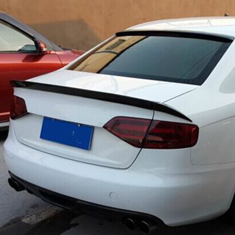 car styling A4 B8 ABT style Carbon Fiber rear trunk spoiler wing for Audi A4 B8 2009~2012 carbon fiber mirror cover for 07 09 audi a4 b8