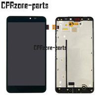 100 Warranty Black LCD Screen Display With Touch Screen Digitizer Frame For Microsoft For Nokia Lumia