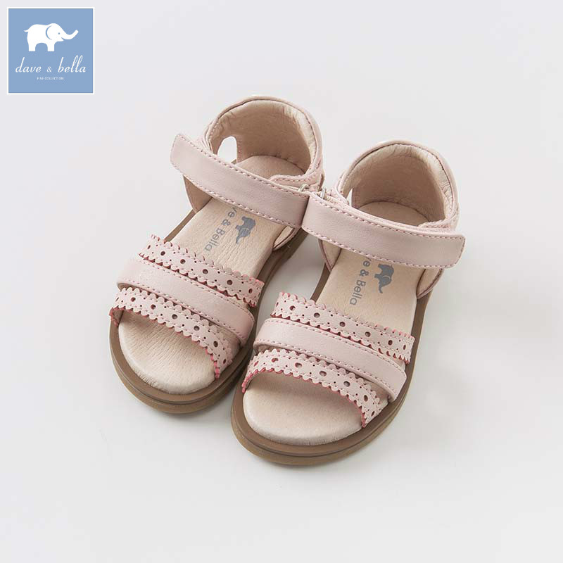 DB6997 Dave Bella summer baby girl sandal Princess Shoes brand shoes