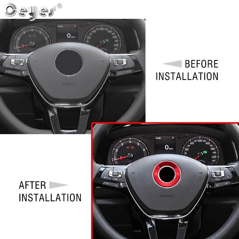 Car steering wheel decoration circle ring sticker for VOLKSWAGEN (26)