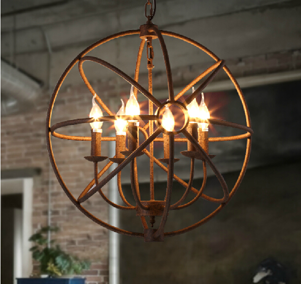 round candle chandelier