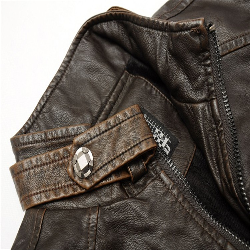 Mens Bikers Winter Leather Jacket 4