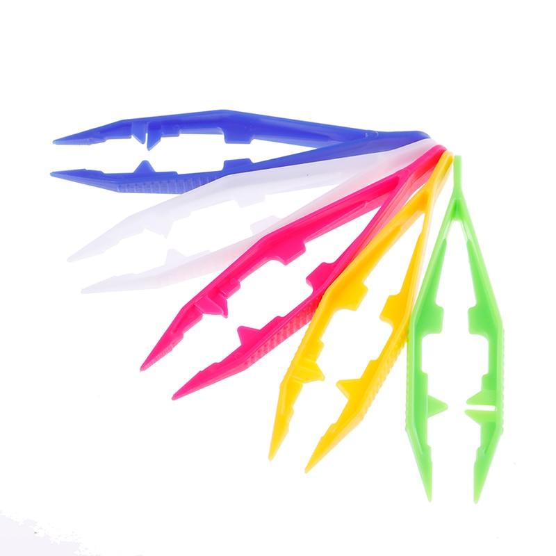1/5pcs Funny Durable Children Kids Tools Tweezers Kids' Craft For Perler Bead New Design Random Color