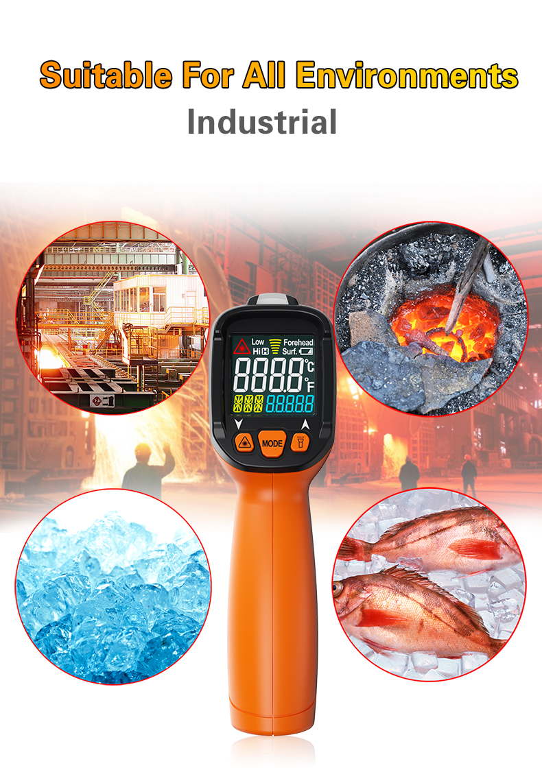 Image 2 - PM6530D digital laser infrared thermometer hygrometer K type UV  light electronic temperature sensor humidity meter pyrometerTemperature  Instruments   -