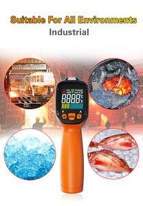 Image 2 - PM6530D digitale laser infrarood thermometer hygrometer type K UV licht elektronische temperatuursensor vochtigheid meter pyrometer