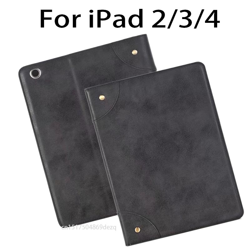 for ipad 4/3/2 Retro Briefcase PU Leather Case For Apple ipad 2 ipad 3 ipad 4 Auto Wake Up/Sleep Stand Flip Bags Cover a group of black cats pattern pu leather auto sleep flip case for apple ipad mini2 3 4 ipad2 3 4 air1 2 pro9 7 12 9 stand cover