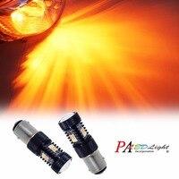 PA LED 2pcs x 1157 S25 BAY15D 16SMD Dual LED Light Switchback White Yellow Brake Light Parking LED Lamp