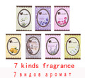 10 unids/lote gusto aire fresco fragancia perfumada armario casa cajón bolsita del Perfume del coche bolsa absorber humo 7 clases de fragancia