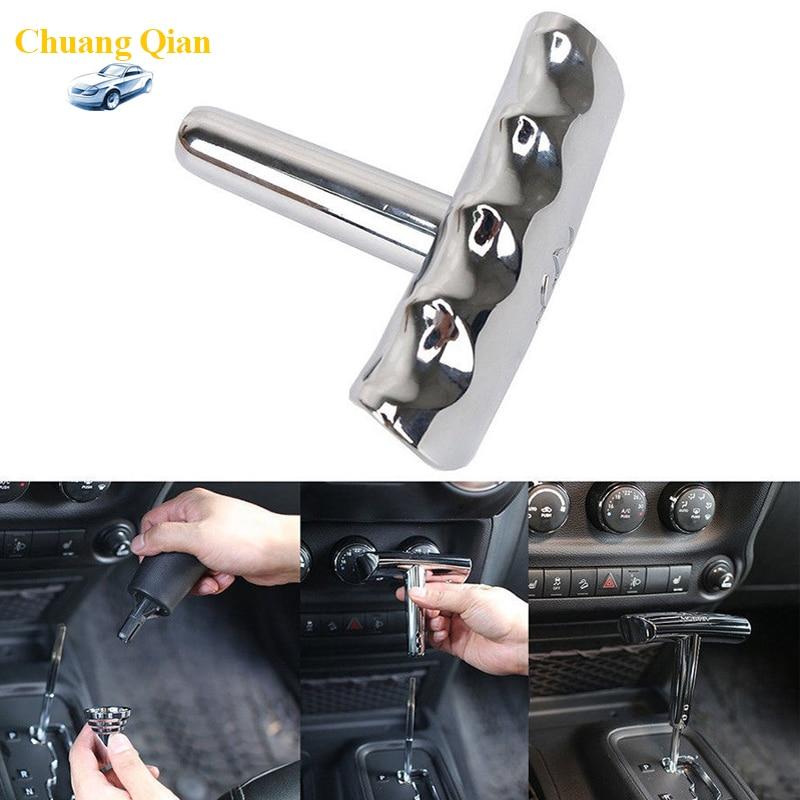 Chuang Qian Zinc Alloy T-Handle Shifter Shift Knob For Jeep Wrangler 08-14 /Grand Cherokee 11-13 /Compass 07-14 /Liberty 11-14 цены