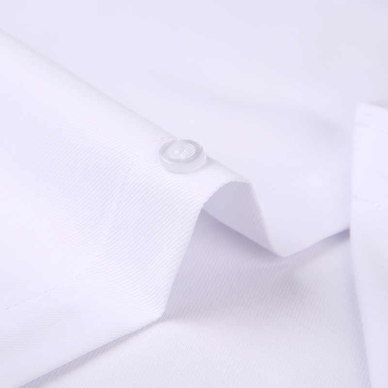 DAVYDAISY 8XL 7XL 6XL 5XL Мужская рубашка Новинка 2019 Весенняя полосатая мужская деловая Повседневная рубашка с длинными рукавами формальная белая рубашка мужская DS301