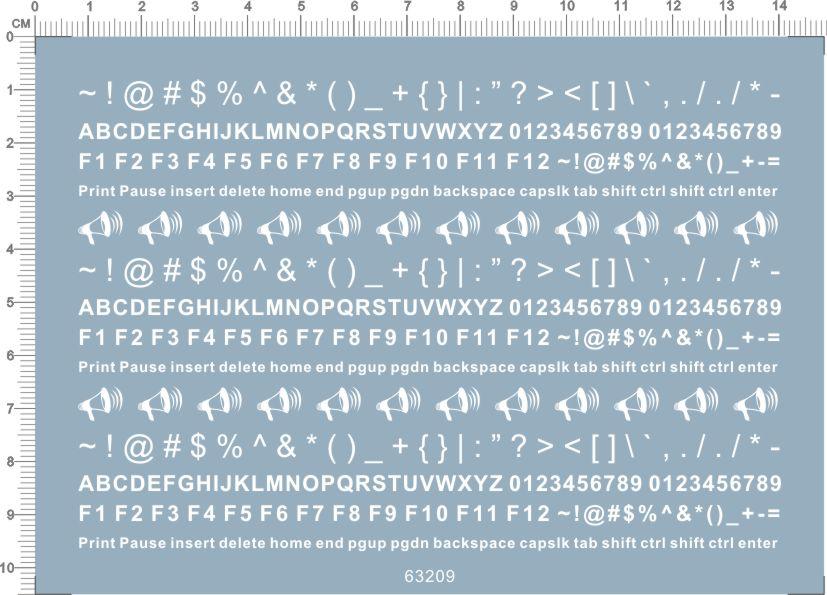 Super Detail Up Letters Numbers keyboard Markings Model Kit Water Slide Decal