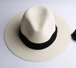 LNPBD white wide brim women's jazz fedoras hat cap summer