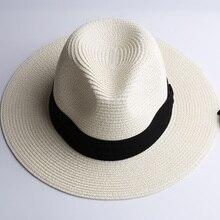 LNPBD Summer fashion white flat brim wide brim women's strawhat women's jazz fedoras