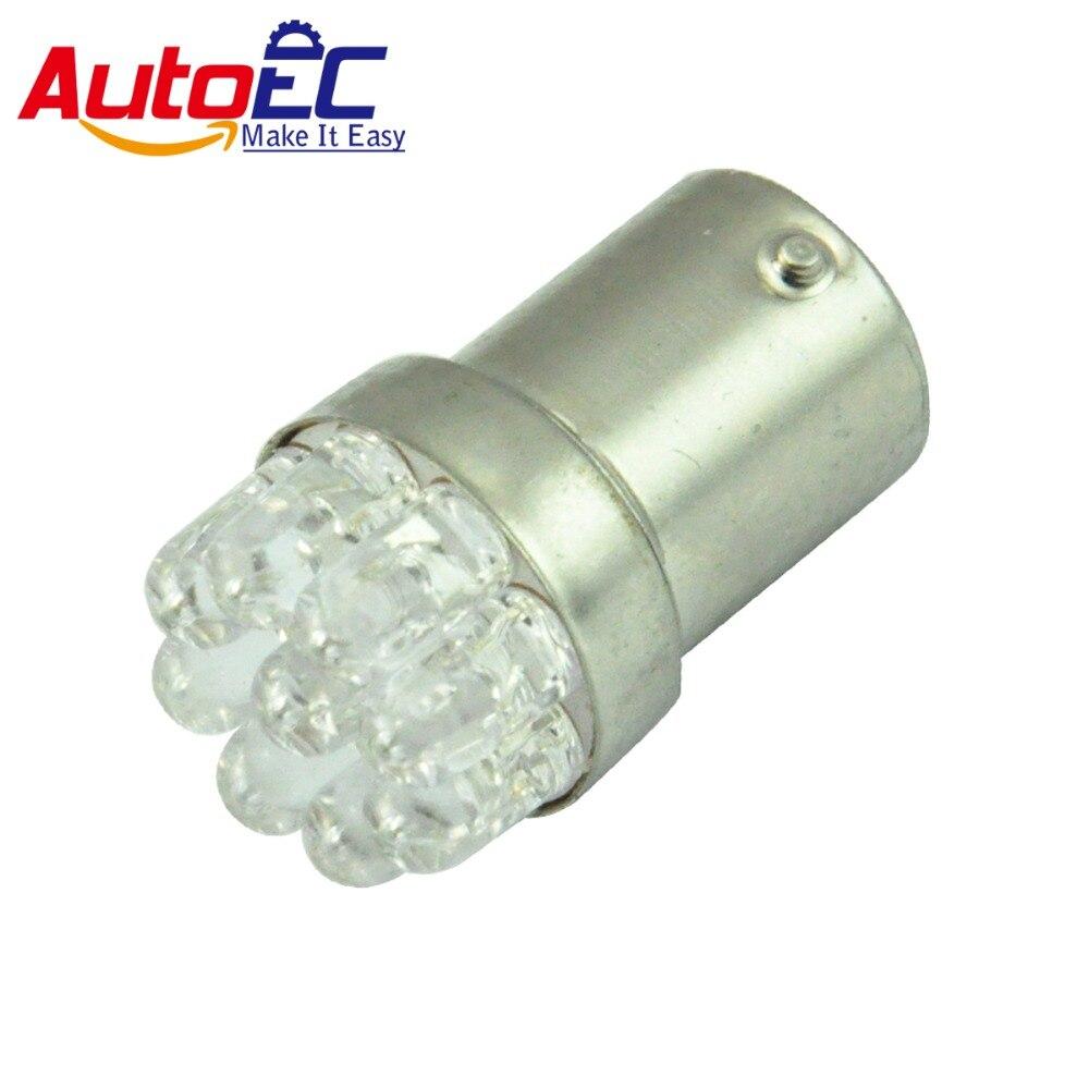 AutoEC 20x 1156 1157 BA15S P21W 9 LED Motorcycle Lamp Car Truck Turn Signal Warning Light Bulbs Cold White DC12V #LF50