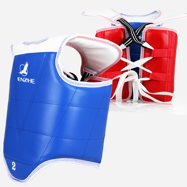 99wtf Approve Guard Red In Taekwondo Children Tkd Protection Reversible Chest Protectors Us26 Vest Support Other Adult Karate Blue vn0mwN8