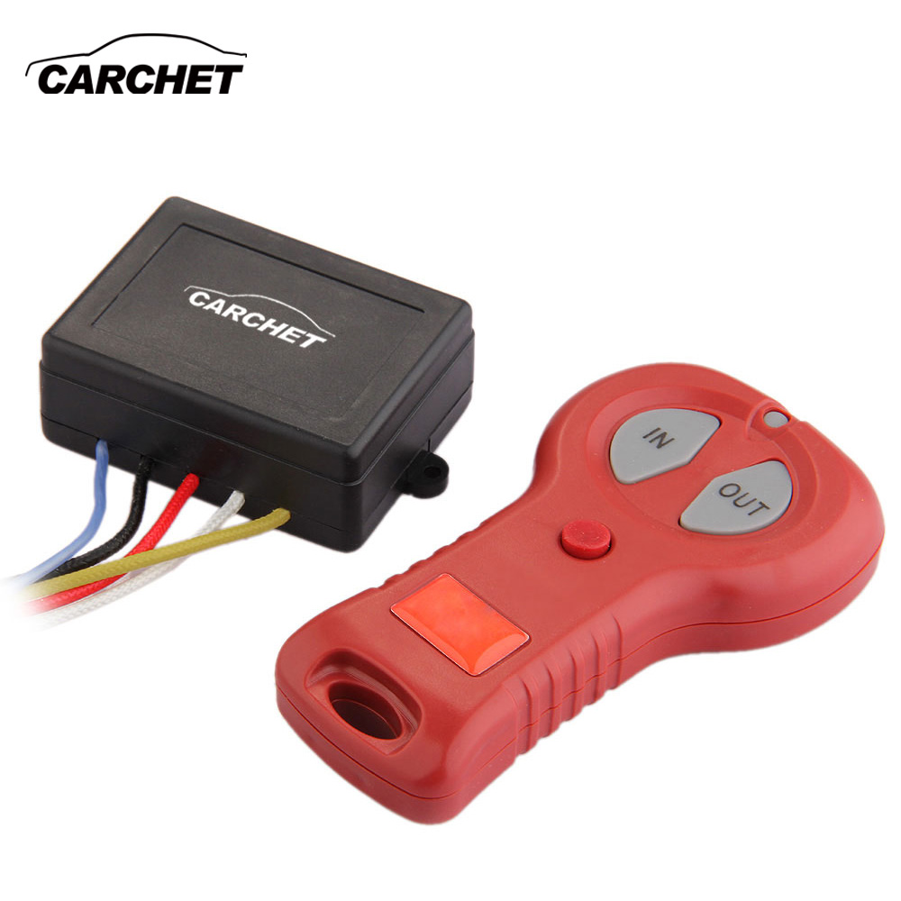 CARCHET Winch Wireless Remote Control Set Kit for Bulldog for Jeep ATV SUV Offroad DC 12V-24V Remote Controls Winch