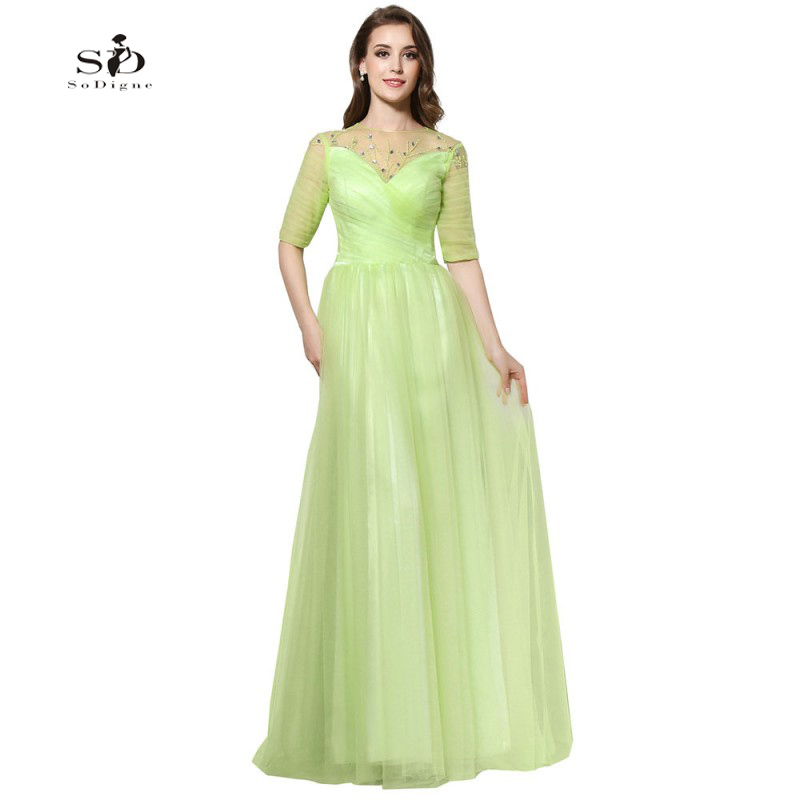 Lime Green Prom Dresses Sale Cheap Prom Gowns 2018 Beads A ...