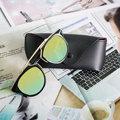 2016 Hot NeW Mujeres Del Ojo de Gato gafas de Sol Con Caja de Los Vidrios UV400 Diseñador de la Marca de La Vendimia Gafas de Sol Hombres Mujeres Gafas