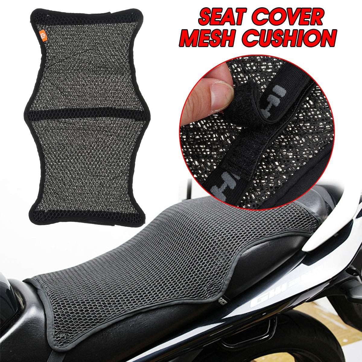 Balight Comfort Motorcycle Seat Gel Pad Shock Absorption Mats Cushion Accessories