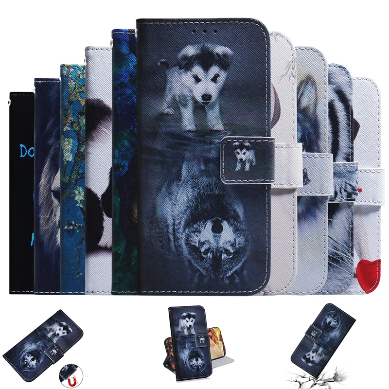 Leather Flip Wallet Case For <font><b>Coque</b></font> <font><b>Samsung</b></font> Galaxy <font><b>A10</b></font> Flip Cover Phone Case For Etui <font><b>Samsung</b></font> <font><b>A10</b></font> A 10 SM-A105F Wallet Book Case image