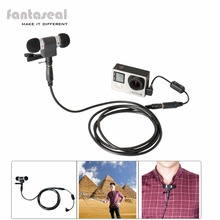 طقم ميكروفون استريو مقاوم للرياح وكابل تمديد وفلتر تقليل الضوضاء ومحول ميكروفون لـ GoPro Hero 4 3 3 3