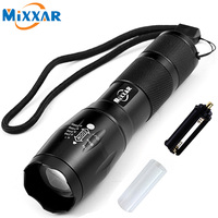 ZK50 LED Flashlight XML T6 4000LM High Power LED Torch Zoomable Flashlight For Camping Lantern 18650