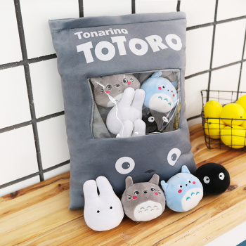 cutie snack shaped dolls big pack of Japan cartoon figure multi-color 10cm mini totoro plush toys small fire cloud figure car stickers multi color 10 pair pack