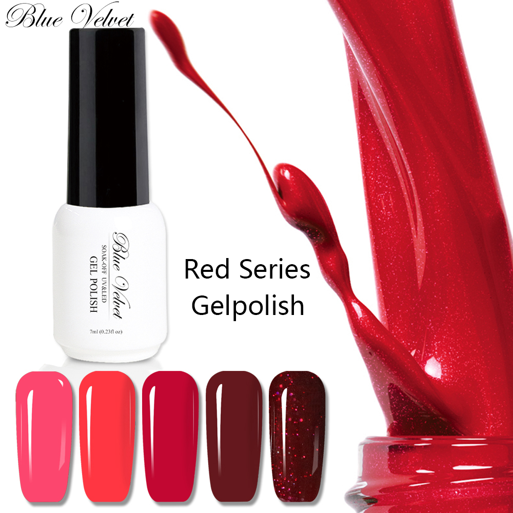 Blue Velvet 7ml Y Red Color Gel Nail Polish Manufactures Soak Off Uv Glitter Varnish Clic Pure Lacquer In From Beauty