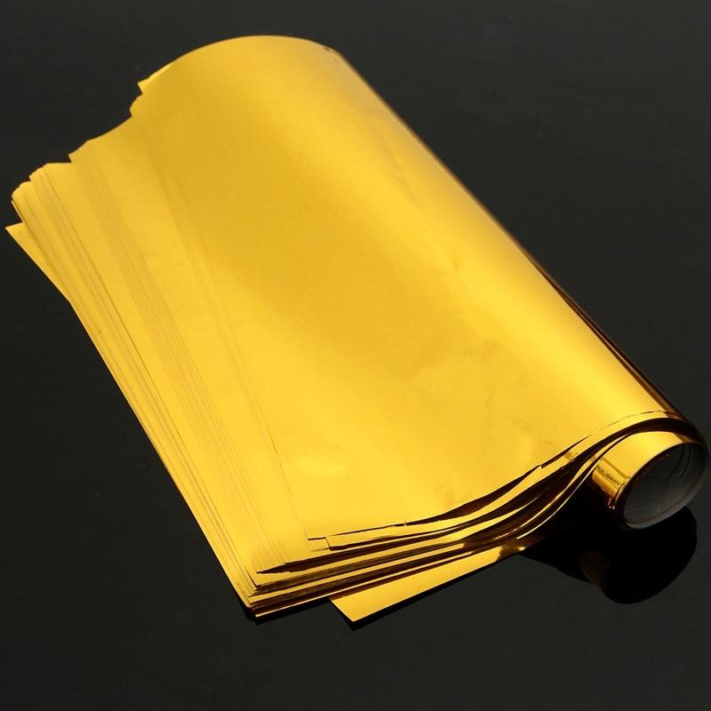 100 Sheets A4 Gold Hot Stamping Transfer Foil Paper Laminator Laminating Laser Printer Business Card DIY Craft Supplies