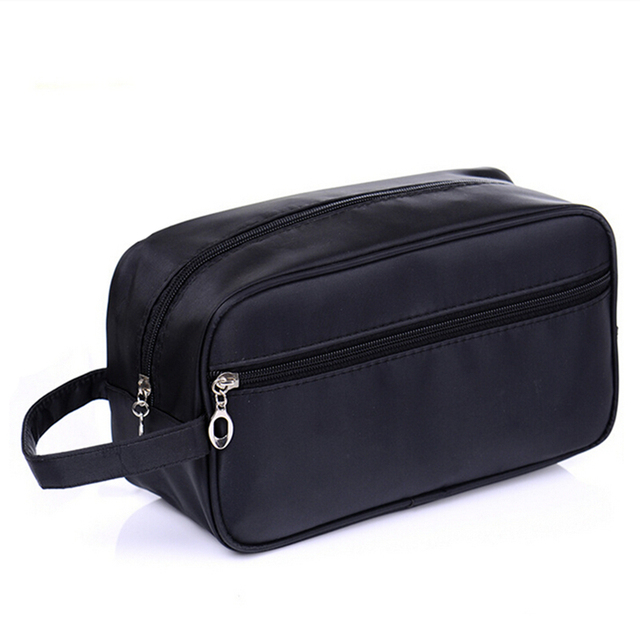 17283b664cb1 Black Cosmetic bag Simple Waterproof Makeup bag Toiletry kit men women Wash  bags make up toilet Travel Pouch organizer travel