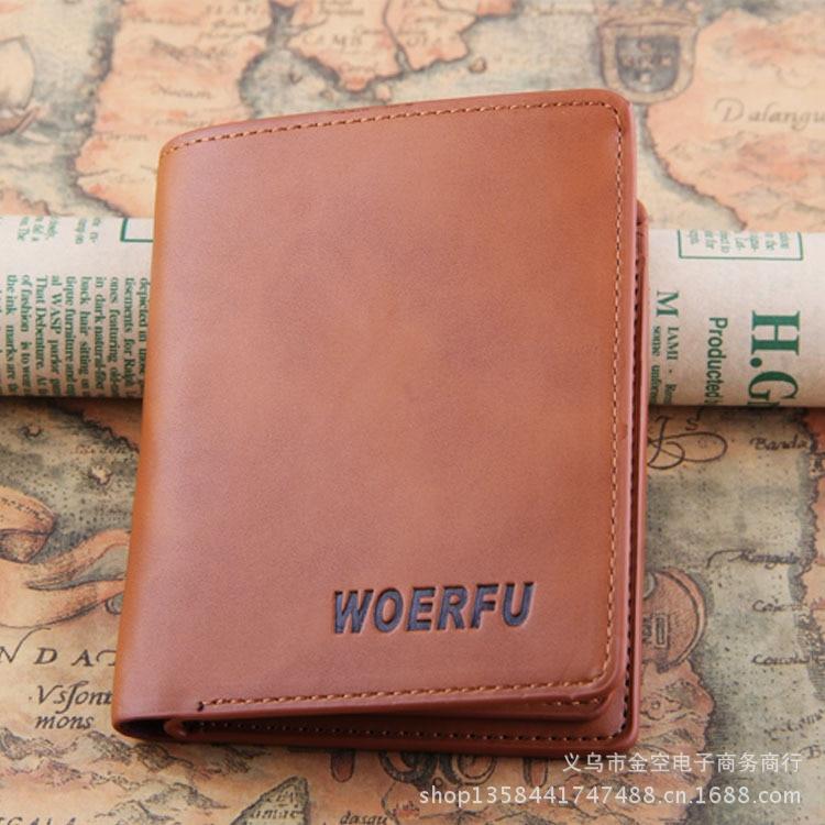2015 new arrive Men Wallets Genuine leather short casual Purse famous brand Men Wallet Card holder