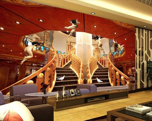 Soundproof Living Room Cosy Colors Custom Wallpaper Angel Stairs 3d Photo Wall Paper For Nonwoven Tv Backdrop Mural