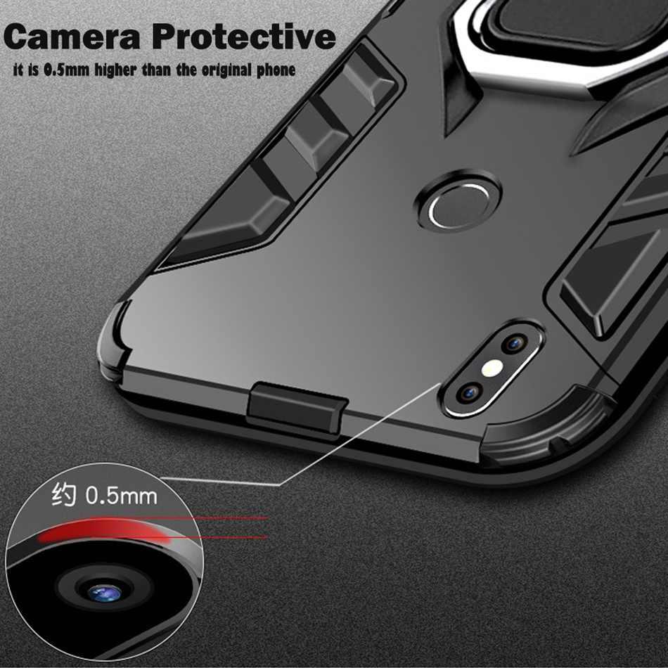 KISSCASE Ring Houder Case Voor Xiao mi mi 9 se 9 8 se 8 Volledige bescherming Armor Case Voor Xiao mi rode Mi note 7 6 pro 6 5 4x4 CAPINHAS