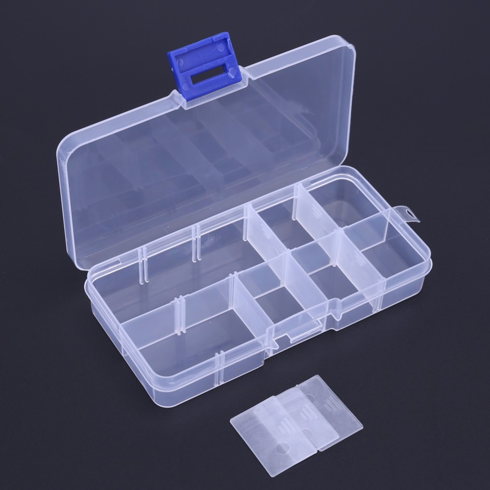 New 10 Compartments Pouch Storage Box Transparent Fishing Lure Square Fishing Box Spoon Hook Lure Tackle Box Fish Accessory Box