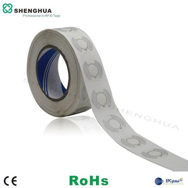 1000 cái/gói Trống UHF RFID Thụ Động Đĩa Nhãn Inlay Ướt Có Thể In RFID Tag Disc cho CD Quản Lý