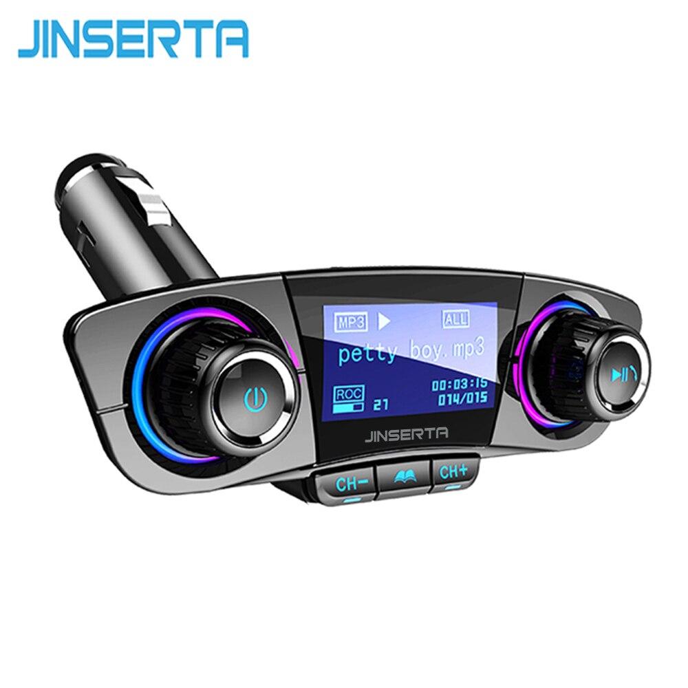 JINSERTA transmisor FM Aux modulador Bluetooth manos libres Kit de coche de Audio de coche MP3 jugador con carga inteligente cargador Dual del coche del USB