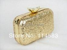 1408 Gold Shimmery blenden Fashion Hochzeit Braut Party Night clutch abendtasche handtasche fall IN FREIER VERSAND