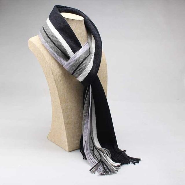dfa7d2e4c Winter Design Striped Scarf Men Shawls Scarves Foulard Fall Fashion Designer  Business Scarf Echarpe With Tassels