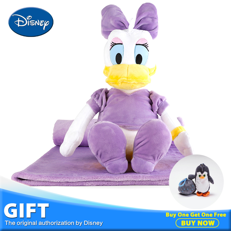 Disney Daisy Duck Plush Stuffed Toy Doll Children Portable Sleeping Playing Toy Peluches Rest Warm Blanket Pillow Christmas Gift fancytrader new style giant plush stuffed kids toys lovely rubber duck 39 100cm yellow rubber duck free shipping ft90122