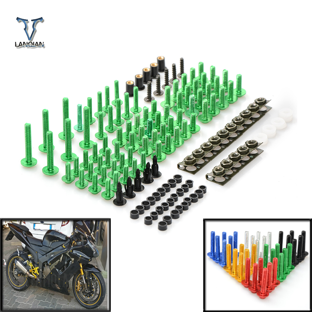 Motorcycle Full Fairing Kit windshield Body Work Bolts Nuts Screws For Kawasaki Ninja 1000 1000R 250 250R 300 300R 400R 650 new universal brand motorcycle accessories fairing body work bolts screws for suzuki m109r boulevard ducati diavel the devil