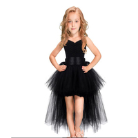 20990bdb8a2fe Kids Halloween Costume Black Tutu Lace Toddler Girls Tulle Dress Evening  Birthday Party Kids Dresses For