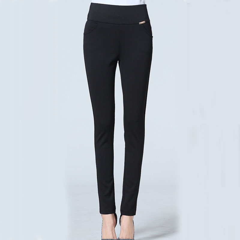 Plus size pants women 2018 new spring and autumn female basic casual trousers thin elastic black skinny pencil pants 5XL 6XL 7XL