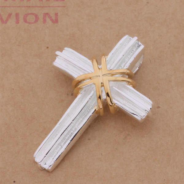 An304 Hot 925 srebro naszyjnik ze srebra próby 925 modny wisiorek złoty krzyż/gnqapexa Ascajjja
