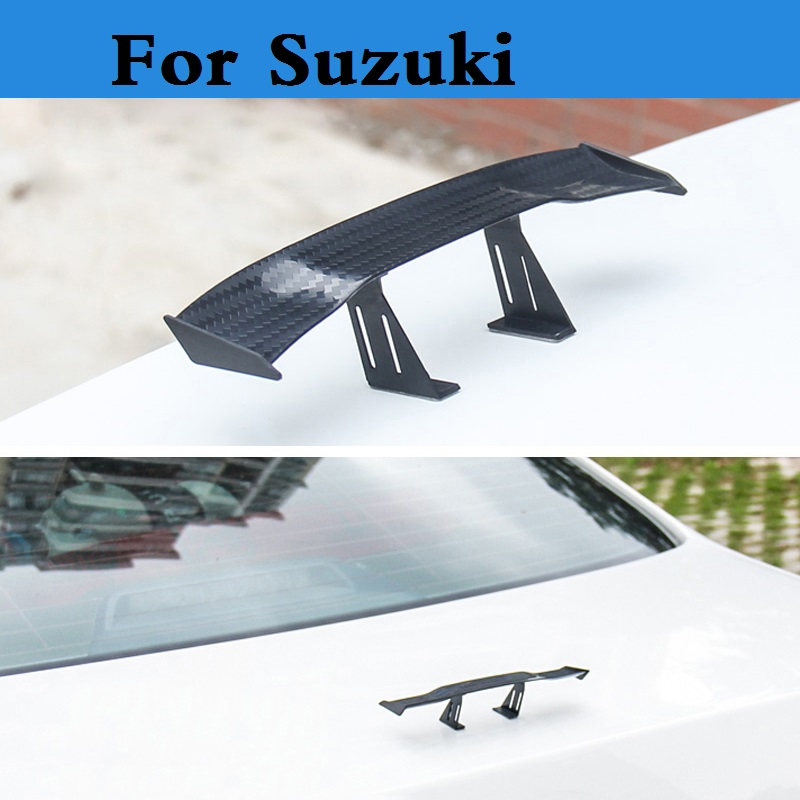 Car-styling Mini Model Auto Spoiler Rear Wing Sticker For Suzuki Ignis Jimny Kei Kizashi Liana Reno Splash Swift SX4 Twin Verona stickers for suzuki jimny car styling jimny sticker auto accessories reflective waterproof vinyl car decals car accessories 1pc