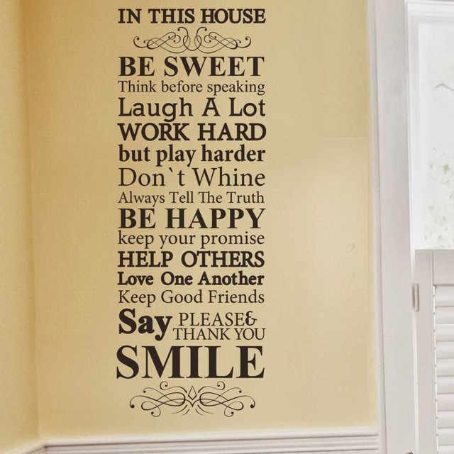 In This House We Do Family Rules House Rules Vinyl Wall Decal - House rules wall decals