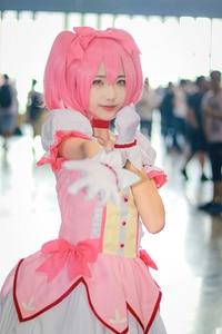 Image 5 - Puella Magi Madoka Magica Magical Girl Kaname Madoka Cosplay Costume Short Ball Dress With Bowknots Cosplay Costume